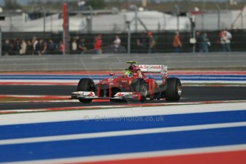 World © Octane Photographic Ltd. F1 USA - Circuit of the Americas - Friday Afternoon Practice - FP2. 16th November 2012. Ferrari F2012 - Felipe Massa. Digital Ref: 0558lw1d2047