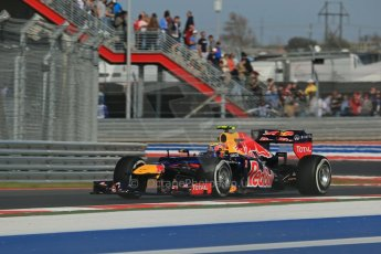 World © Octane Photographic Ltd. F1 USA - Circuit of the Americas - Friday Afternoon Practice - FP2. 16th November 2012. Red Bull RB8 - Mark Webber. Digital Ref: 0558lw1d2147
