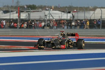 World © Octane Photographic Ltd. F1 USA - Circuit of the Americas - Friday Afternoon Practice - FP2. 16th November 2012. Lotus E20 - Kimi Raikkonen. Digital Ref: 0558lw1d2152