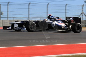 World © Octane Photographic Ltd. F1 USA - Circuit of the Americas - Friday Afternoon Practice - FP2. 16th November 2012. Williams FW34 - Pastor Maldonado. Digital Ref: 0558lw7d3292
