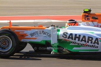 World © Octane Photographic Ltd. F1 USA - Circuit of the Americas - Friday Afternoon Practice - FP2. 16th November 2012. Sahara Force India VJM05 - Nico Hulkenberg. Digital Ref: 0558lw7d3404