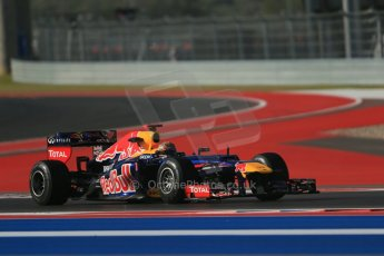 World © Octane Photographic Ltd. F1 USA - Circuit of the Americas - Friday Morning Practice - FP1. 16th November 2012 Red Bull RB8 - Sebastian Vettel. Digital Ref: 0557lw1d1209