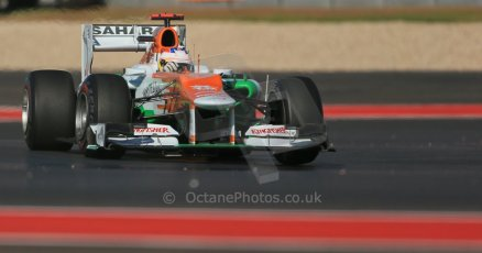 World © Octane Photographic Ltd. F1 USA - Circuit of the Americas - Friday Morning Practice - FP1. 16th November 2012. Sahara Force India VJM05 - Paul di Resta. Digital Ref: 0557lw1d1606