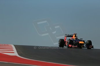 World © Octane Photographic Ltd. Formula 1 USA, Circuit of the Americas - Qualifying. 17th November 2012 Red Bull RB8 - Sebastian Vettel. Digital Ref: 0560lw1d3255