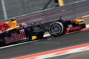 World © Octane Photographic Ltd. Formula 1 USA, Circuit of the Americas - Qualifying. 17th November 2012 Red Bull RB8 - Mark Webber. Digital Ref: 0560lw1d3620