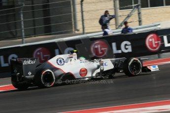 World © Octane Photographic Ltd. Formula 1 USA, Circuit of the Americas - Qualifying. 17th November 2012 Sauber C31 - Sergio Perez. Digital Ref: 0560lw1d3633