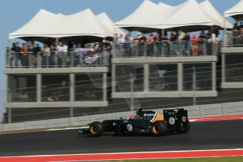 World © Octane Photographic Ltd. Formula 1 USA, Circuit of the Americas - Race 18th November 2012. Caterham CT01 - Heikki Kovalainen. Digital Ref: 0561lw1d4375