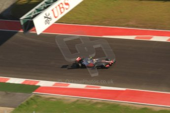World © Octane Photographic Ltd. F1 USA - Circuit of the Americas - Saturday Morning Practice - FP3. 17th November 2012. McLaren MP4/27 - Lewis Hamilton. Digital Ref: 0559lw7d3677