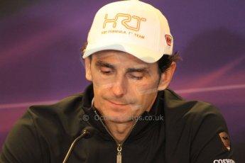 2012 © www.octanephotos.co.uk Circuit of the Americas - Thursday Press Conference - Pedro de la Rosa - HRT. 15th November 2012 Digital Ref: 0556lw7d2759