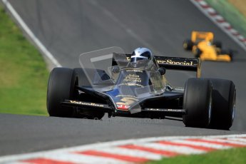© Carl Jones/Octane Photographic Ltd. 2012. Classic Lotus Festival F1 car demonstation session2  - Brands Hatch, Sunday 19th August 2012. Andrew Morris, Lotus 79.  Digital Ref : 0467cj7d8601
