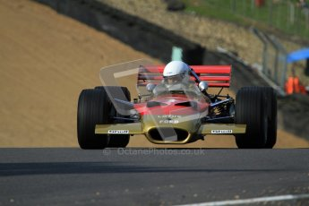 © Carl Jones/Octane Photographic Ltd. 2012. Classic Lotus Festival F1 car demonstation session2  - Brands Hatch, Sunday 19th August 2012. Clive Chapman, Lotus 49B.  Digital Ref : 0467cj7d8618