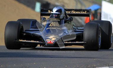 © Carl Jones/Octane Photographic Ltd. 2012. Classic Lotus Festival F1 car demonstation session2  - Brands Hatch, Sunday 19th August 2012. Andrew Morris, Lotus 79.  Digital Ref : 0467cj7d8664