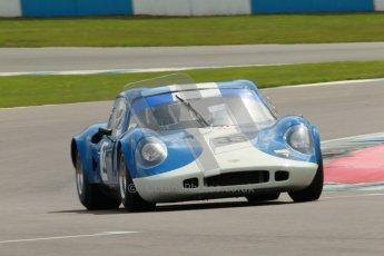 "© Octane Photographic Ltd. 2012 Donington Historic Festival. ""1000km"" for pre-72 sports-racing cars, qualifying. Chevron B8 - Steve Hodges. Digital Ref : 0319cb1d8380"