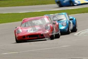 "© Octane Photographic Ltd. 2012 Donington Historic Festival. ""1000km"" for pre-72 sports-racing cars, qualifying. Chevron B8. Digital Ref : 0319cb1d8408"