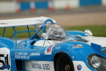 "© Octane Photographic Ltd. 2012 Donington Historic Festival. ""1000km"" for pre-72 sports-racing cars, qualifying. Matra MS650 - Rob Hall. Digital Ref : 0319cb1d8480"