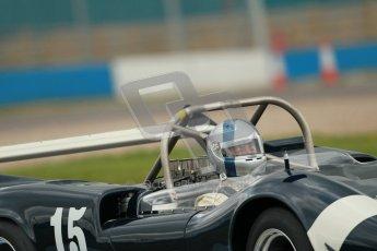 "© Octane Photographic Ltd. 2012 Donington Historic Festival. ""1000km"" for pre-72 sports-racing cars, qualifying. McLaren M1C - Ewan McIntyre/Jamie McIntyre. Digital Ref : 0319cb1d8485"