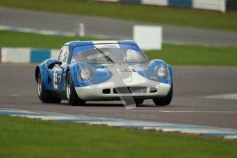 "© Octane Photographic Ltd. 2012 Donington Historic Festival. ""1000km"" for pre-72 sports-racing cars, qualifying. Chevron B8 - Steve Hodges. Digital Ref : 0319cb1d8489"