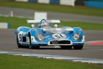 "© Octane Photographic Ltd. 2012 Donington Historic Festival. ""1000km"" for pre-72 sports-racing cars, qualifying. Matra MS650 - Rob Hall. Digital Ref : 0319cb1d8511"
