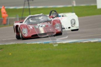 "© Octane Photographic Ltd. 2012 Donington Historic Festival. ""1000km"" for pre-72 sports-racing cars, qualifying. Chevron B16 FVC - Jamie Boot. Digital Ref : 0319cb1d8525"