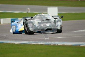 "© Octane Photographic Ltd. 2012 Donington Historic Festival. ""1000km"" for pre-72 sports-racing cars, qualifying. Lola T70 Mk.3B - Jason Wright/Michael Gans. Digital Ref : 0319cb1d8606"