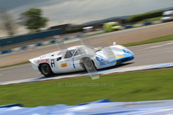 "© Octane Photographic Ltd. 2012 Donington Historic Festival. ""1000km"" for pre-72 sports-racing cars, qualifying. Lola T70 Mk.3B - Leo Voyazides/Simon Hadfield. Digital Ref : 0319cb7d0144"