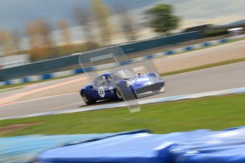 "© Octane Photographic Ltd. 2012 Donington Historic Festival. ""1000km"" for pre-72 sports-racing cars, qualifying. Chevron B8 - Paul Ingram/Chris Chiles Jnr. Digital Ref : 0319cb7d0166"