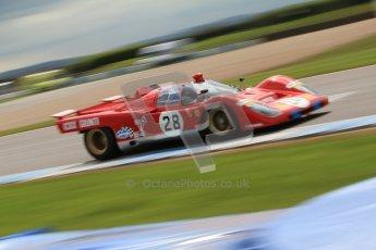 "© Octane Photographic Ltd. 2012 Donington Historic Festival. ""1000km"" for pre-72 sports-racing cars, qualifying. Ferrari 512M - Paul Knapfield. Digital Ref : 0319cb7d0181"