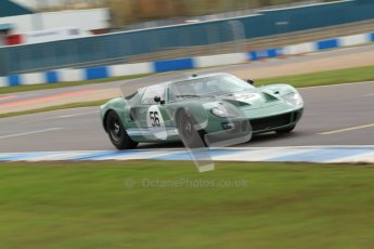"""© Octane Photographic Ltd. 2012 Donington Historic Festival. """"1000km"""" for pre-72 sports-racing cars, qualifying. Ford GT40 - Andy Wolfe. Digital Ref : 0319cb7d0186"""