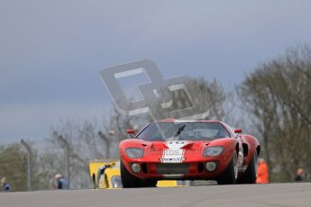 "© Octane Photographic Ltd. 2012 Donington Historic Festival. ""1000km"" for pre-72 sports-racing cars, qualifying. Ford GT40 - Chris Ball/Nick Ball. Digital Ref : 0319lw7d9059"