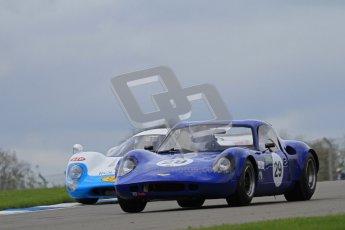 "© Octane Photographic Ltd. 2012 Donington Historic Festival. ""1000km"" for pre-72 sports-racing cars, qualifying. Chevron B8 - Paul Ingram/Chris Chiles Jnr. Digital Ref : 0319lw7d9113"