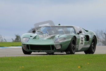 """© Octane Photographic Ltd. 2012 Donington Historic Festival. """"1000km"""" for pre-72 sports-racing cars, qualifying. Ford GT40 - Andy Wolfe. Digital Ref : 0319lw7d9140"""