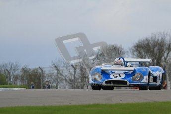 "© Octane Photographic Ltd. 2012 Donington Historic Festival. ""1000km"" for pre-72 sports-racing cars, qualifying. Matra MS650 - Rob Hall. Digital Ref : 0319lw7d9214"