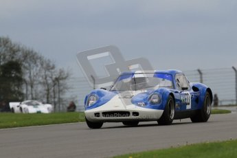 "© Octane Photographic Ltd. 2012 Donington Historic Festival. ""1000km"" for pre-72 sports-racing cars, qualifying. Chevron B8 - Steve Hodges. Digital Ref : 0319lw7d9322"