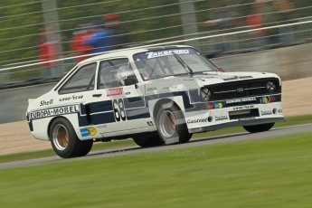 © Octane Photographic Ltd. 2012 Donington Historic Festival. JD Classics Challenge for 66 to 85 touring cars, qualifying. Ford Escort RS1800 - Mark Wright/Dave Coyne. Digital Ref : 0318cb1d8265