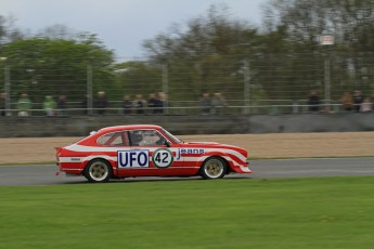 © Octane Photographic Ltd. 2012 Donington Historic Festival. JD Classics Challenge for 66 to 85 touring cars, qualifying. Ford Capri - Tom Pochciol. Digital Ref : 0318lw7d8635