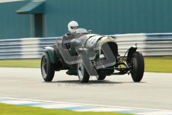 """© Octane Photographic Ltd. 2012 Donington Historic Festival. """"Mad Jack"""" for pre-war sportscars, qualifying. Peter Morley/James Morley - Bentley. Digital Ref : 0314cb1d7512"""
