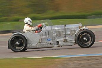 "© Octane Photographic Ltd. 2012 Donington Historic Festival. ""Mad Jack"" for pre-war sportscars, qualifying. Frazer Nash Super Sport - Fred Wakeman/Patrick Blakeney-Edwards. Digital Ref : 0314cb7d9650"