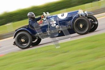 "© Octane Photographic Ltd. 2012 Donington Historic Festival. ""Mad Jack"" for pre-war sportscars, qualifying. Bentley - Richard Hudson. Digital Ref : 0314cb7d9661"