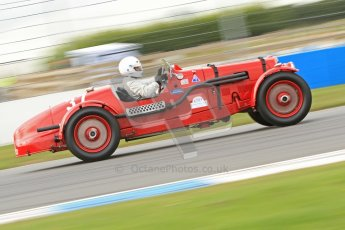 "© Octane Photographic Ltd. 2012 Donington Historic Festival. ""Mad Jack"" for pre-war sportscars, qualifying. Aston Martin Speed - Richard Lake/Paul Alcock. Digital Ref : 0314cb7d9673"