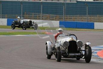 """© Octane Photographic Ltd. 2012 Donington Historic Festival. """"Mad Jack"""" for pre-war sportscars, qualifying. Clive Morley/Stuart Morely - Bentley. Digital Ref : 0314lw7d7098"""