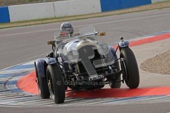"© Octane Photographic Ltd. 2012 Donington Historic Festival. ""Mad Jack"" for pre-war sportscars, qualifying. Bentley - Richard Hudson. Digital Ref : 0314lw7d7133"