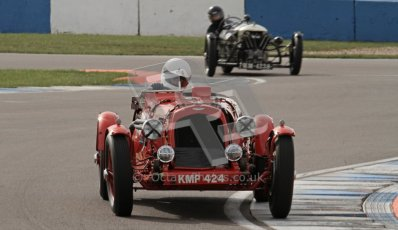 "© Octane Photographic Ltd. 2012 Donington Historic Festival. ""Mad Jack"" for pre-war sportscars, qualifying. Aston Martin Speed - Richard Lake/Jane Varley. Digital Ref : 0314lw7d7232"