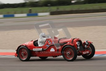 "© Octane Photographic Ltd. 2012 Donington Historic Festival. ""Mad Jack"" for pre-war sportscars, qualifying. Aston Martin Speed - Richard Lake/Paul Alcock. Digital Ref : 0314lw7d7242"