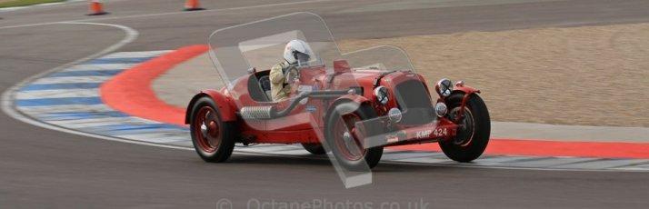 "© Octane Photographic Ltd. 2012 Donington Historic Festival. ""Mad Jack"" for pre-war sportscars, qualifying. Aston Martin Speed - Richard Lake/Jane Varley. Digital Ref 0314lw7d7282"