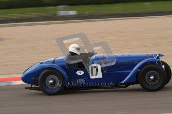 "© Octane Photographic Ltd. 2012 Donington Historic Festival. ""Mad Jack"" for pre-war sportscars, qualifying. Delahaye 135CS - John Polson. Digital Ref : 0314lw7d7307"
