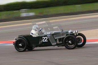 """© Octane Photographic Ltd. 2012 Donington Historic Festival. """"Mad Jack"""" for pre-war sportscars, qualifying. Frazer Nash - James Knapp. Digital Ref : 0314lw7d7493"""