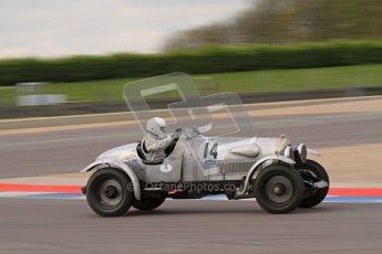 """© Octane Photographic Ltd. 2012 Donington Historic Festival. """"Mad Jack"""" for pre-war sportscars, qualifying. Clive Morley/Stuart Morely - Bentley. Digital Ref : 0314lw7d7501"""