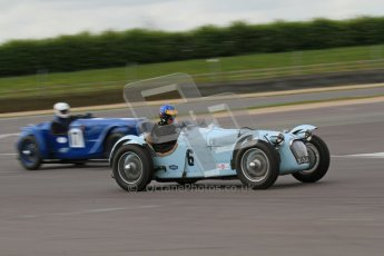 "© Octane Photographic Ltd. 2012 Donington Historic Festival. ""Mad Jack"" for pre-war sportscars, qualifying. Talbot Lago T150 - Sam Stretton/John Guyatt and Delahaye 135CS - John Polson. Digital Ref : 0314lw7d7521"