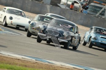 © Octane Photographic Ltd. 2012 Donington Historic Festival. Pre-63 GT, qualifying. Jensen 541R - Malcolm Verey, Denis Welch. Digital Ref : 0322cb1d9282