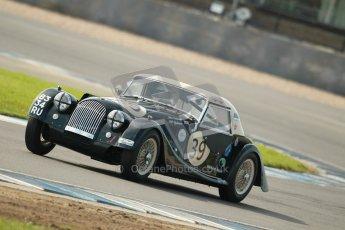 © Octane Photographic Ltd. 2012 Donington Historic Festival. Pre-63 GT, qualifying. Morgan+4 Supersports - John Emberson, Bill Wykeham. Digital Ref : 0322cb1d9332